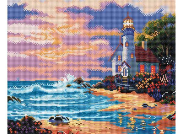 Мозаика на подрамнике Дом с маяком (261-ST-S)