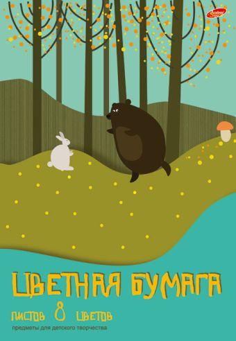 Набор бум цв д/дет тв мел бум 8цв 8л скр 200*285 7767-EAC Аппликация (лес): медведь и заяц