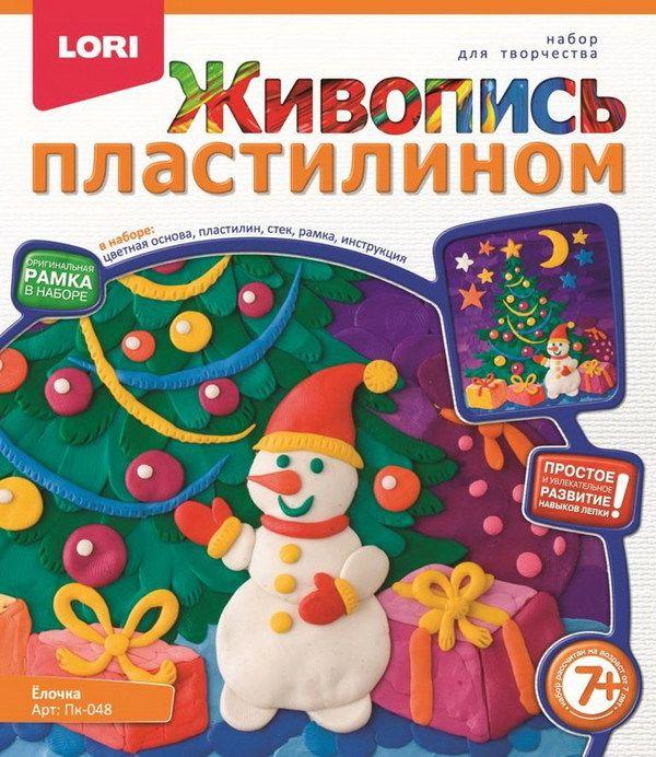 """Живопись пластилином """"Ёлочка"""""""