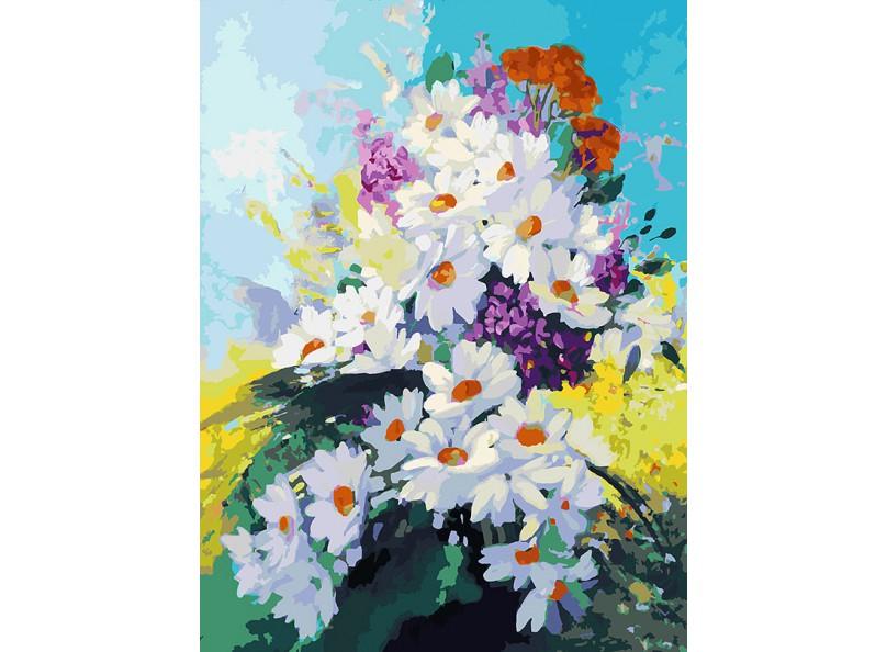 Живопись на холсте 30*40 см. Счастье в ромашках (081-AS) белоснежка живопись на холсте 40х50 см букет лесных цветов 081 cg