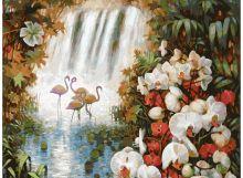 Живопись на холсте 30*40 см. Райский сад (093-AS)