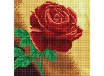 Картины со стразами. Красная роза (038-RS-R)