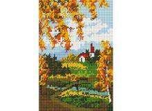 Мозаика на подрамнике. Осенний пейзаж (327-ST-S)
