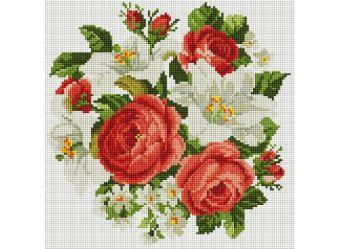 Мозаика на подрамнике. Розы и лилии (329-ST-S)