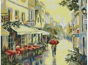 Мозаика на подрамнике. Прогулка по улицам Парижа (339-ST-S)