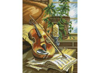 Мозаика на подрамнике. Натюрморт со скрипкой (341-ST-S)
