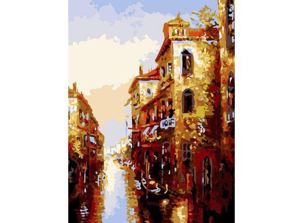 Живопись на холсте 30*40 см. Канал в Венеции (158-AS)