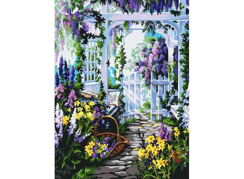 Живопись на холсте 30*40 см. Прекрасный сад (172-AS) набор для творчества хансибэг живопись на холсте 40 50см пионы в букете