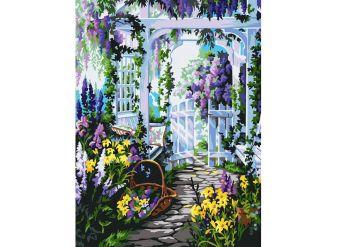 Живопись на холсте 30*40 см. Прекрасный сад (172-AS)