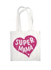 Сумка #дарилюбовь. Супер(SUPER) мама (сердце)