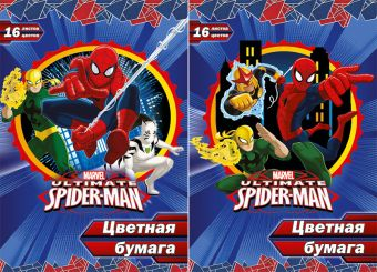 Бум цв д/дет тв 16цв 16л Пап 198*290 SM384/2-EAC ВД лак Spider-man Classic