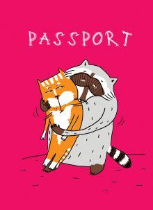 Енот и обнимашки (обложка на паспорт)
