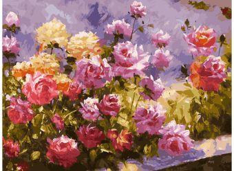 Живопись на холсте 30*40 см. Букет роз (110-AS)