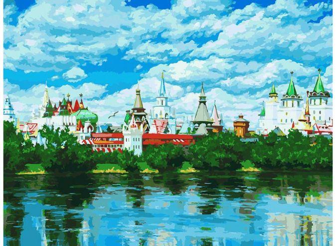 Живопись на холсте 30*40 см. Русское подворье (092-AS )