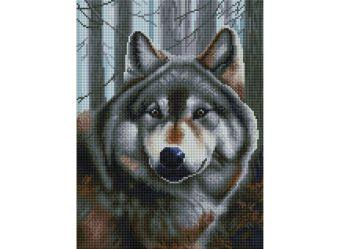 Мозаика на подрамнике. Волк (347-ST-S)