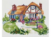 Мозаичные картины . Домик на полянке (006-ST-PS )