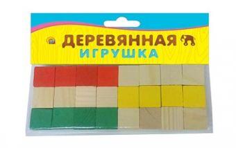 ИГРУШКА ДЕРЕВЯННАЯ. ДВЕ ДЮЖИНЫ (24 кубика) (Арт. ИД-4703)