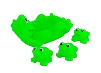 Резиновая игрушка-пищалка для купания. ЛЯГУШАТА (4 шт.) (Арт. ИВ-6464)