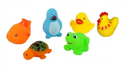Резиновая игрушка-пищалка для купания. ВЕСЁЛОЕ КУПАНИЕ (6 шт.) (Арт. ИВ-6473)