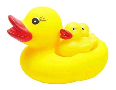 Резиновая игрушка-пищалка для купания. УТКА С УТЯТАМИ (4 шт.) (Арт. ИВ-6472)