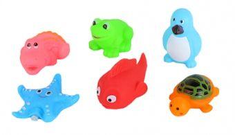 Резиновая игрушка-пищалка для купания. УВЛЕКАТЕЛЬНОЕ КУПАНИЕ (6 шт.) (Арт. ИВ-6475)