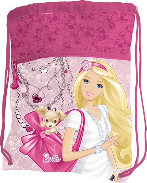 Сумка-рюкзак д/обуви, с дополнительным карманом 43 х 34 см Барби