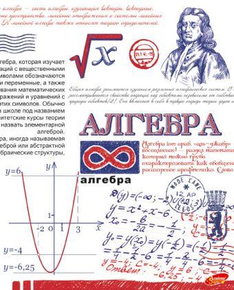Тетр алгебра 48л скр А5 кл 8088-EAC полн УФ лак Рисунок ручкой