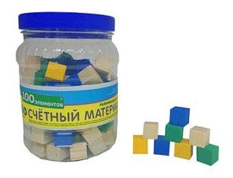 ИГРУШКА ДЕРЕВЯННАЯ. СЧЁТНЫЙ МАТЕРИАЛ (100 кубиков) (Арт. ИД-4696)