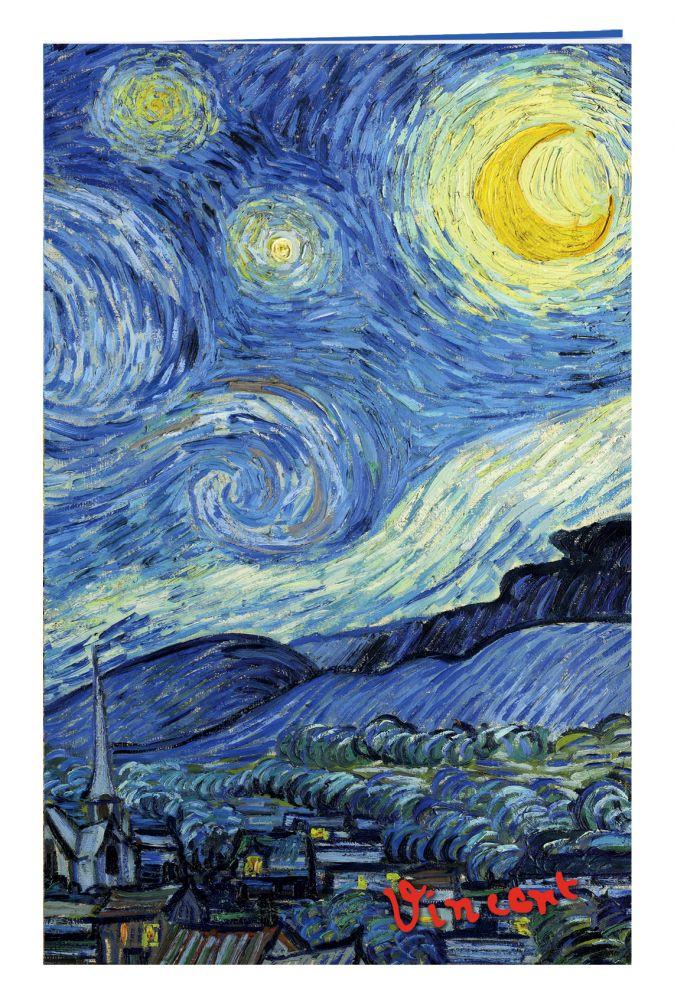 Блокнот в пластиковой обложке. Ван Гог. Звёздная ночь (формат малый, 64 страницы) (Арте)