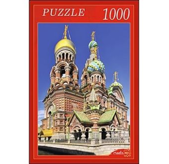 ПАЗЛЫ 1000 элементов. РК1000-7810 ХРАМ СПАСА-НА-КРОВИ