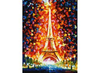Живопись на картоне . Париж - огни Эйфелевой башни  (3026-CS)