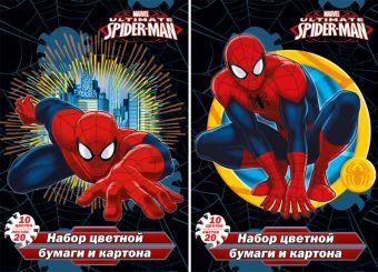 Бум и карт цв д/дет тв 10цв 20л(4 мет) Папка 200*290 SM389/2-EAC ВД лак Spider-man Class