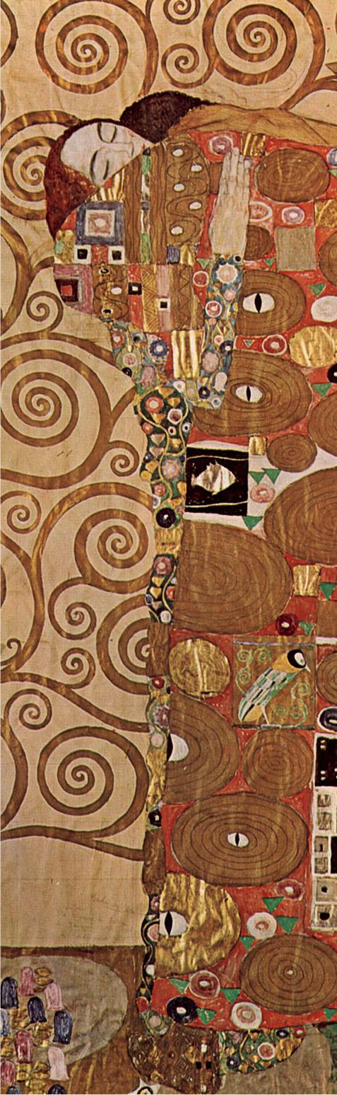 Закладка с резинкой. Густав Климт. Объятия