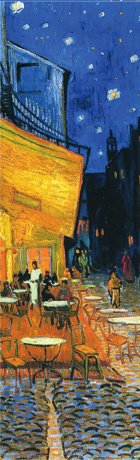 Закладка с резинкой. Ван Гог. Ночная терраса кафе (Арте) закладка с резинкой клод моне прогулка по скалам пурвиля арте