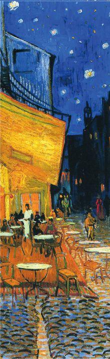 Закладка с резинкой. Ван Гог. Ночная терраса кафе (Арте)
