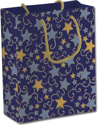 628-2834-PBg Пакет бумажный подарочный, размер 28 х 34 х 9 см, эффект: матовая ламинация, печать металлизированными красками, плотность бумаги 128 гр