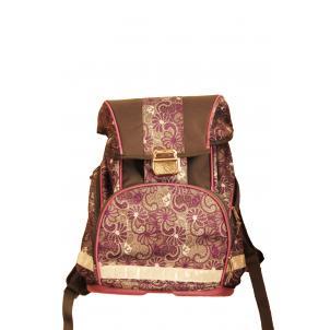 Рюкзак сиреневый, 1 отделение,  из мягкой и прочной ткани с водоотталкивающей пропиткой, металлический замок со светоотражающим катофотом, три вместит