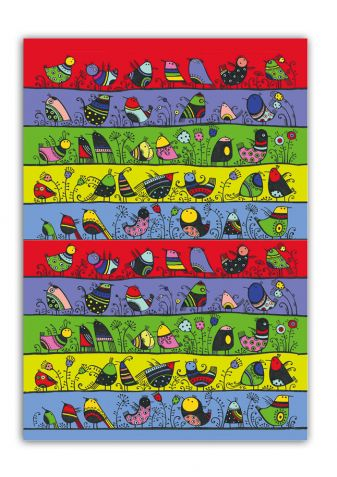 """Сказкотерапия. Блокнот для записей """"Веселые птички"""""""