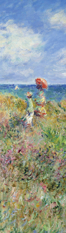 Закладка с резинкой. Клод Моне. Прогулка по скалам Пурвиля (Арте)
