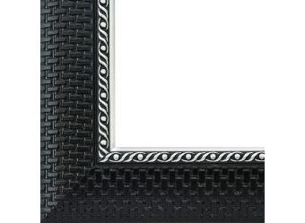 Багетные рамы 30*40. Regina (черный+серебрянный) (1238-BL)