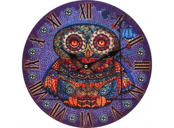 "Часы. Часы настенные ""Волшебная сова"", диаметр 34 см (001-CL)"