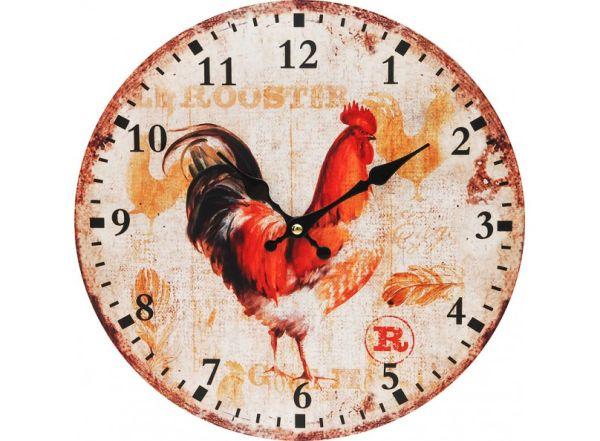 "Часы. Часы настенные ""Петушок"", диаметр 34 см (100-CL)"