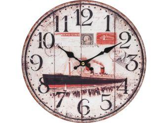 """Часы. Часы настенные """"Пароход"""", диаметр 34 см (131-CL)"""