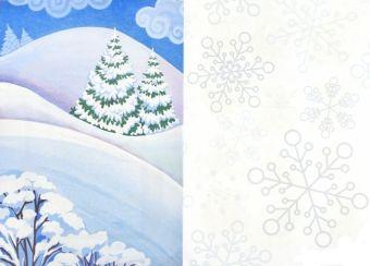 Зима в лесу: книжка-вырезалка
