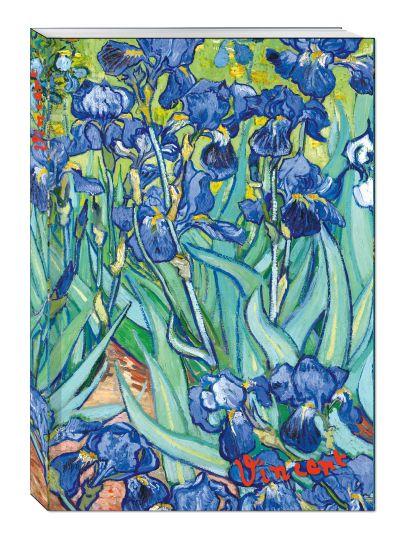 Блокнот в пластиковой обложке. Ван Гог. Ирисы (формат А5, 160 стр.) - фото 1