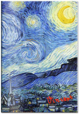 Обложка для паспорта «Ван Гог. Звёздная ночь»