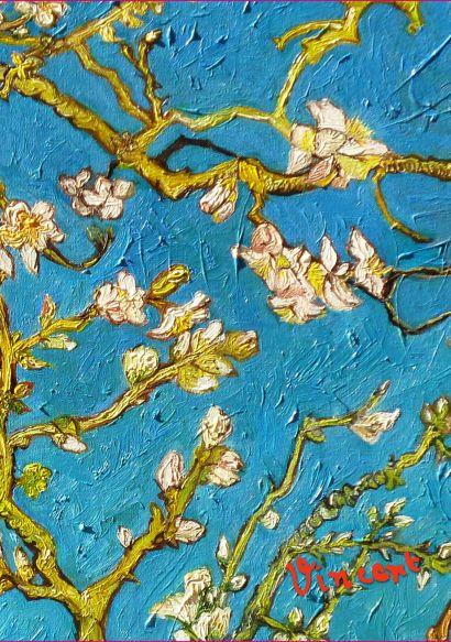 Обложка пластиковая универсальная. Ван Гог. Цветущие ветки миндаля - фото 1