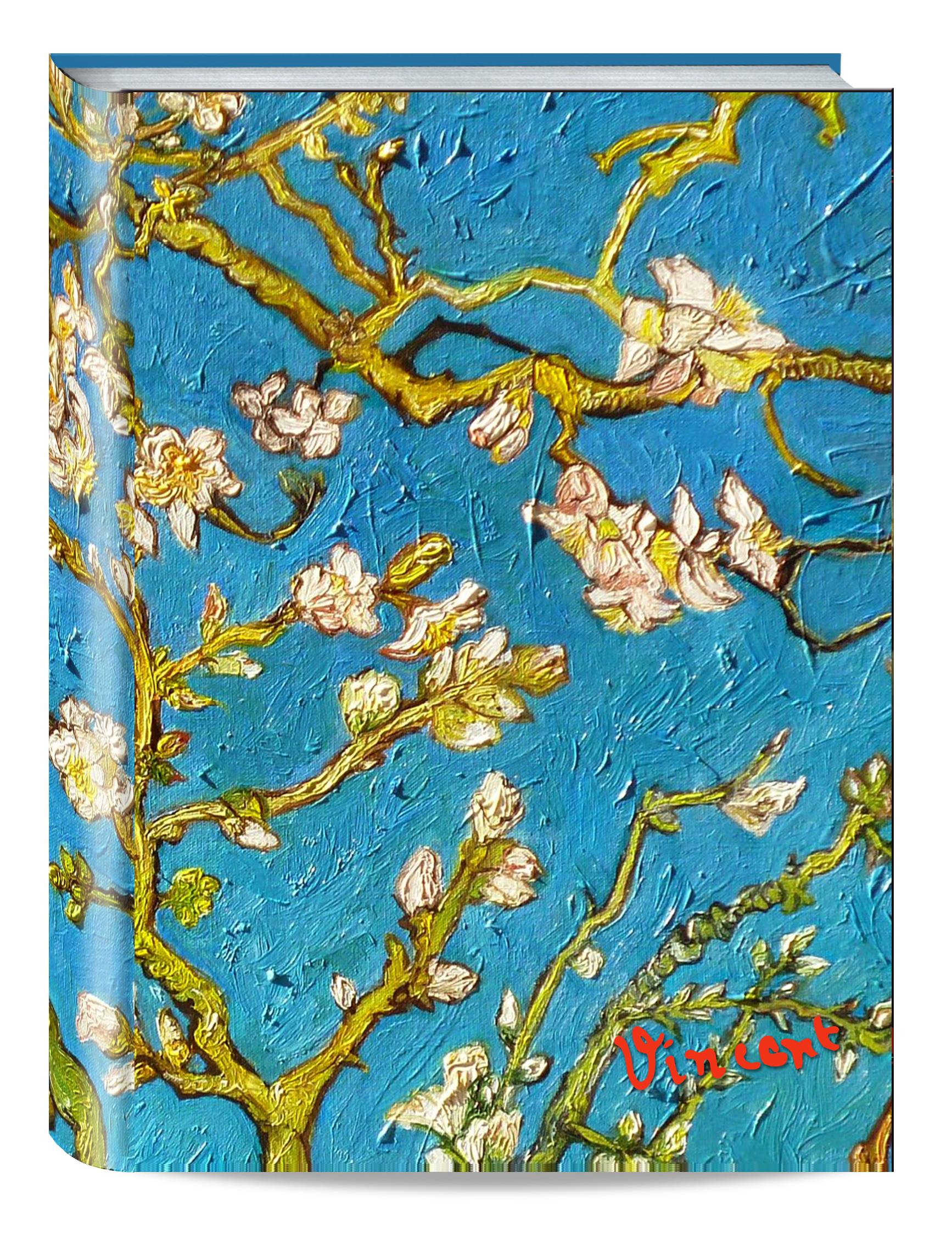 Обложка пластиковая универсальная. Ван Гог. Цветущие ветки миндаля (средний формат) (Арте) блокнот в пластиковой обложке ван гог цветущие ветки миндаля формат малый 64 страницы арте