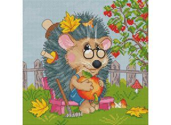 Наборы для вышивания 14ст,16ст. 178-14 Ёжик садовод ( 178-14)