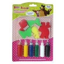 Набор с красками и спонжиками, Маша и Медведь